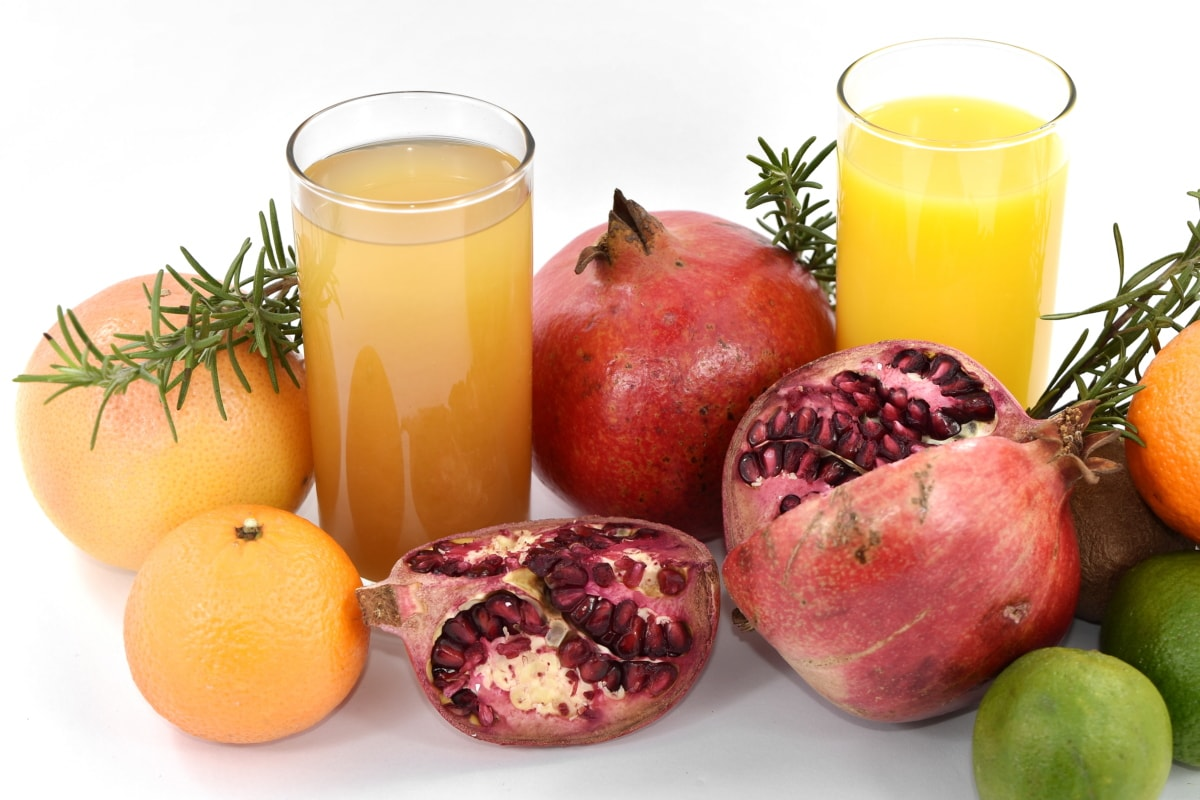 voćni sok, grejp, limete, kivi, nar, zdravo, vitamin, tropsko, sok, hrana