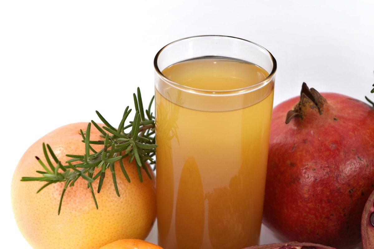 antibacterial, antioxidant, beverage, bitter, fruit juice, grapefruit, pomegranate, spice, syrup, juice