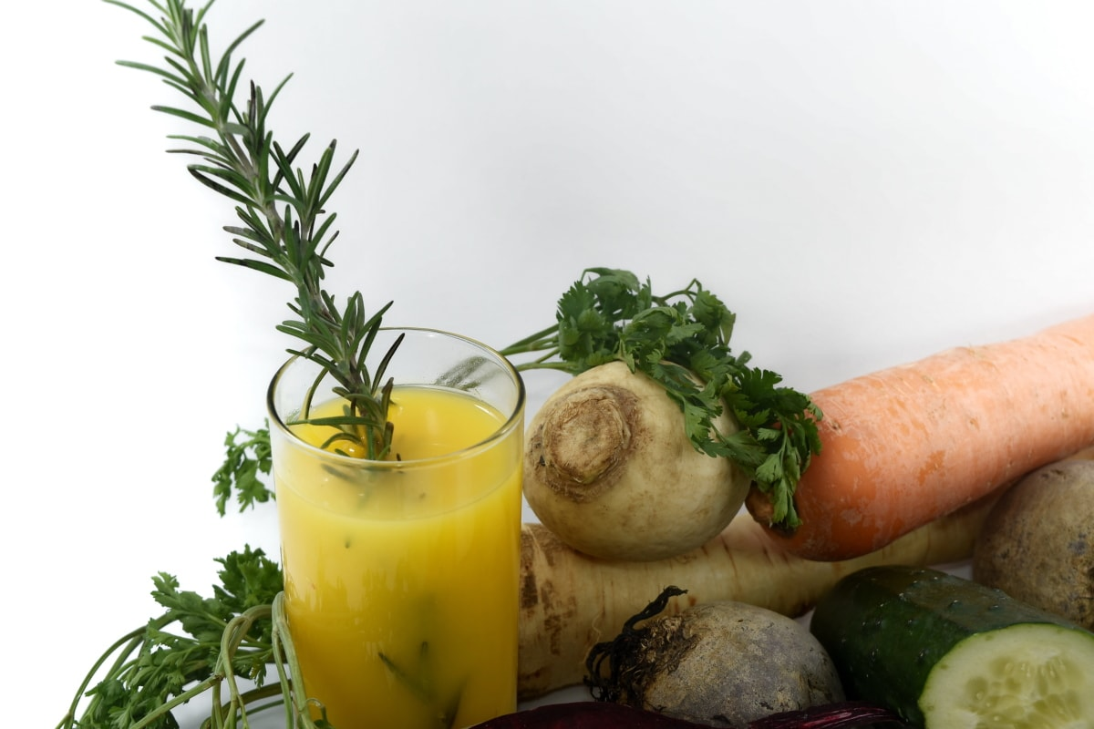 antioxidant, carrot, juice, kohlrabi, parsley, roots, turnip, vegan, diet, food