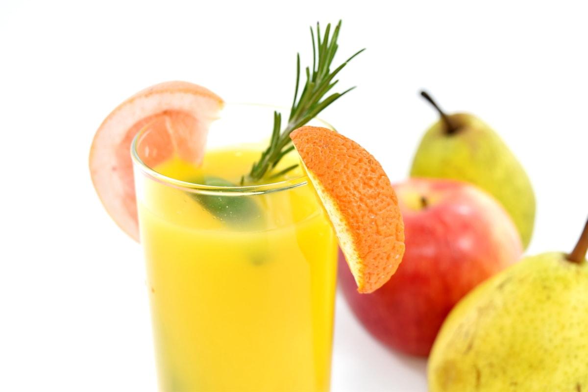 apple, beverage, citrus, drink, fruit cocktail, grapefruit, lemonade, orange, pears, ripe fruit