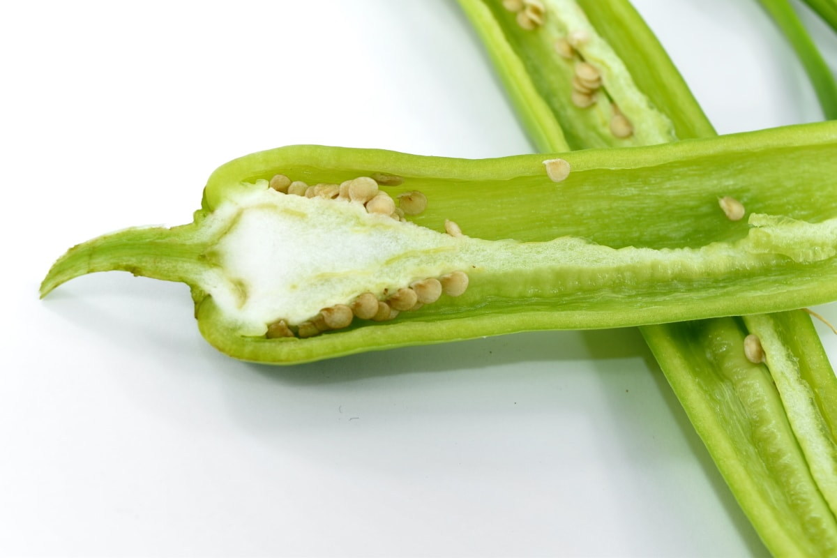 agriculture, chili, cross section, greenish yellow, organic, pepper, seed, vegetable, food, health