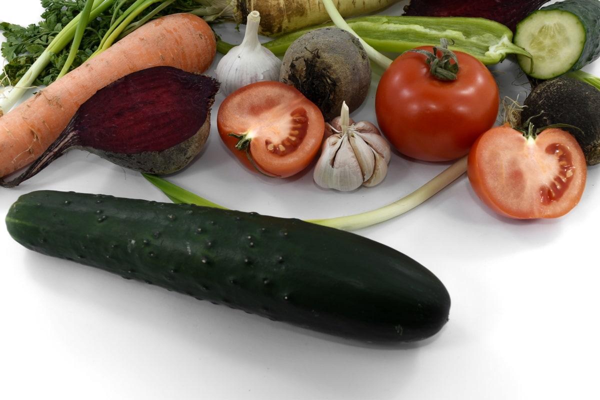 beetroot, celery, cucumber, parsley, slices, tomatoes, vegetable, tomato, diet, vegetables