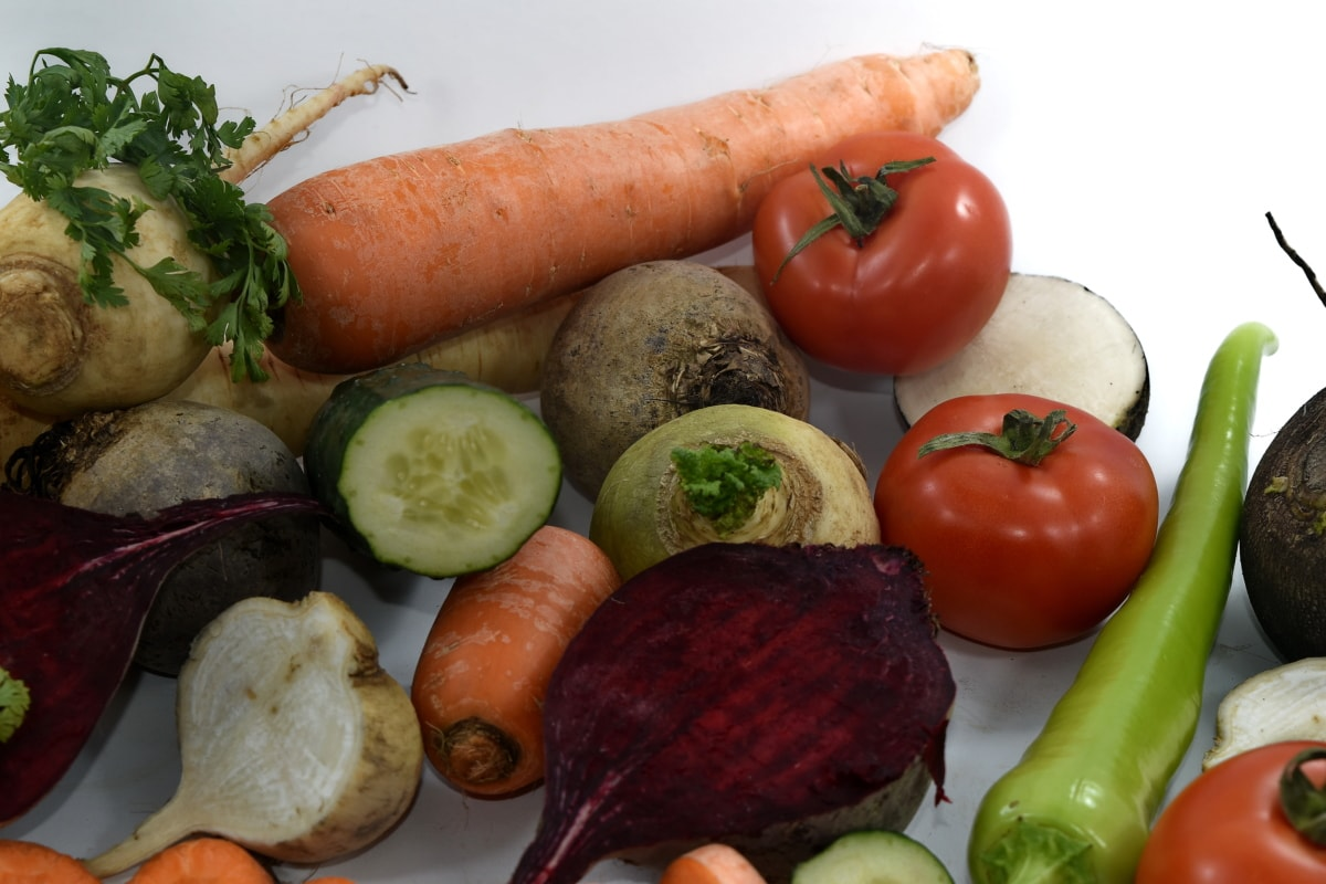 beetroot, celery, parsley, radish, tomatoes, turnip, tomato, pepper, vegetables, root