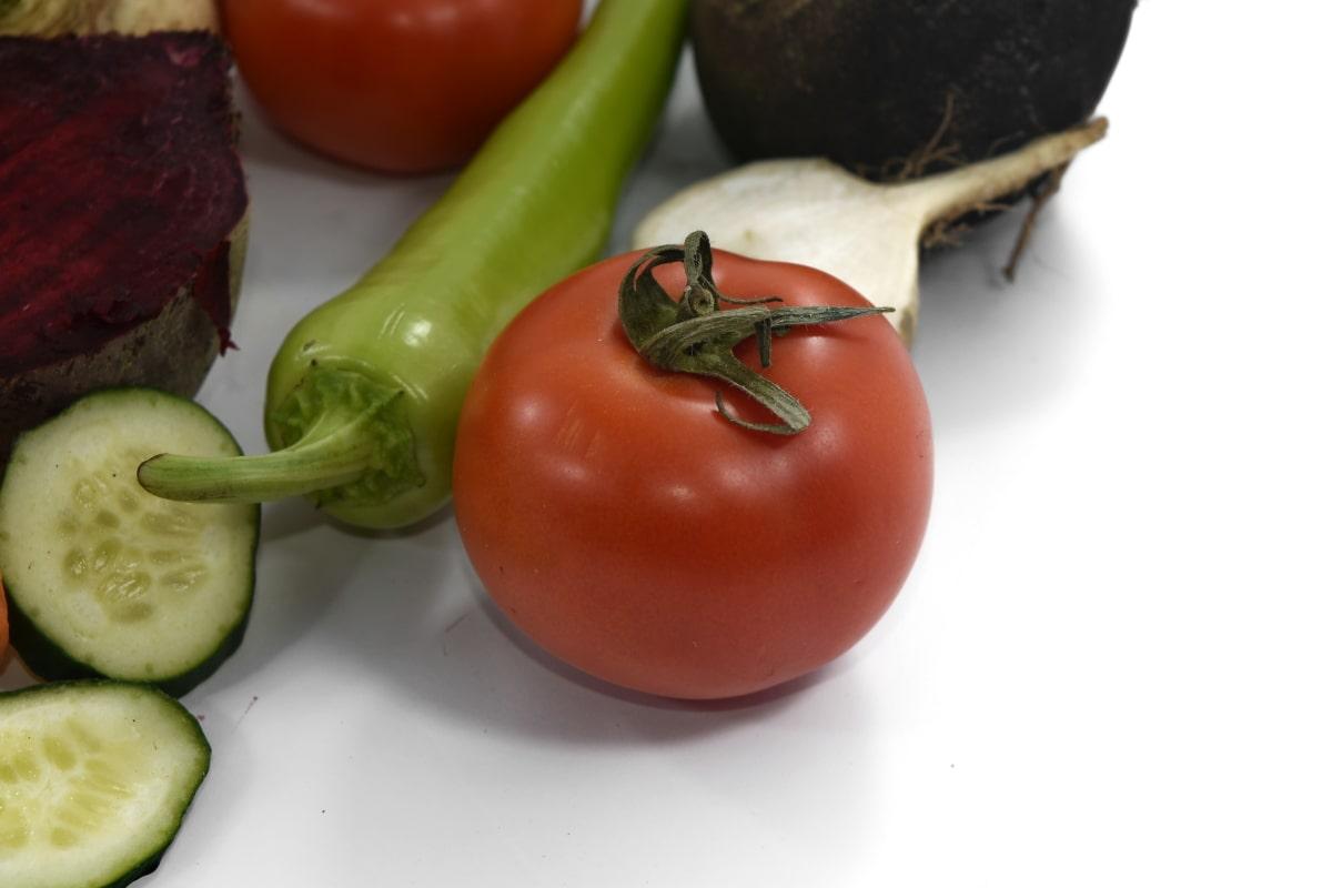 beetroot, celery, cucumber, pepper, tomato, fresh, healthy, vegetarian, vegetable, tomatoes