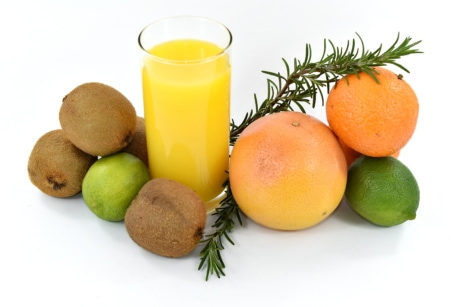 citrus, exotic, fruit, grapefruit, key lime, kiwi, orange, tangerine, vitamin, juice
