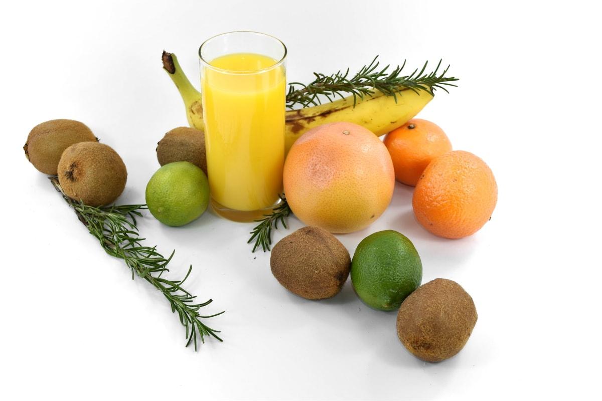 fruit, fruit cocktail, fruit juice, grapefruit, kiwi, lemon, spice, tangerine, tasty, tropical