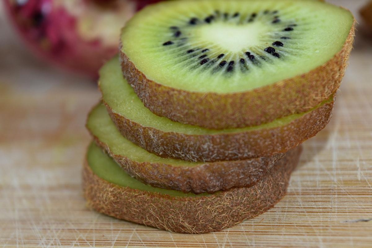 cross section, diet, exotic, fruit, organic, ripe fruit, seed, vegetarian, kiwi, food