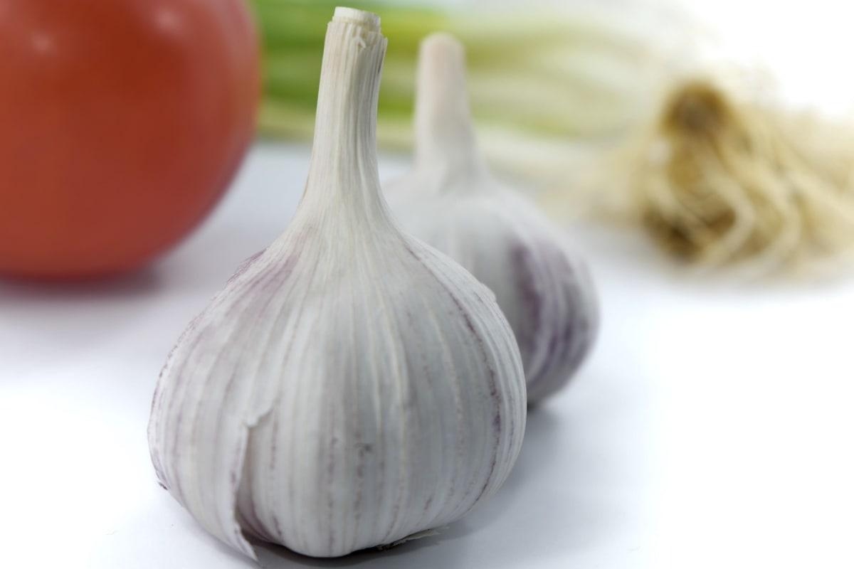 antibacterial, close-up, garlic, kitchen table, leek, organic, vegetables, vegetable, cooking, food