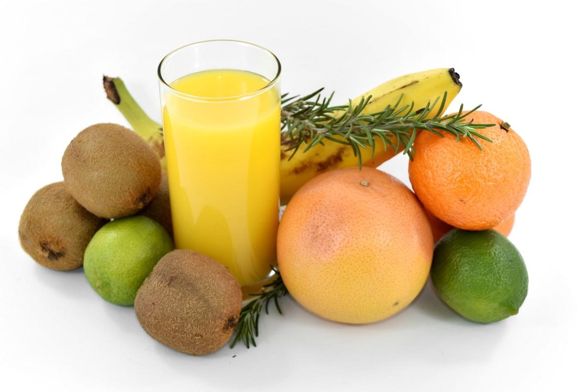 banana, beverage, citrus, diet, grapefruit, key lime, kiwi, liquid, minerals, vitamins