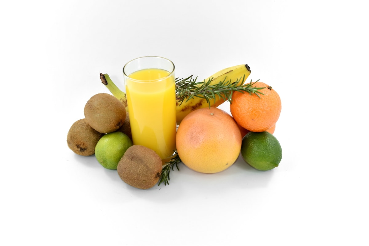 antibacterial, antioxidant, banana, fruit juice, grapefruit, key lime, kiwi, sweet, orange, food