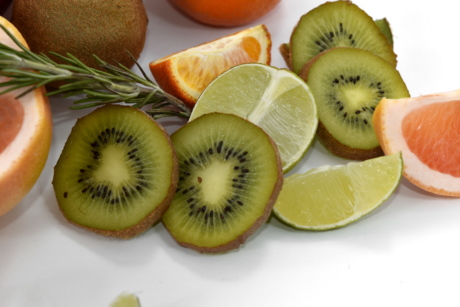 grapefruit, kiwi, slices, tropical, vitamins, sweet, food, healthy, slice, diet