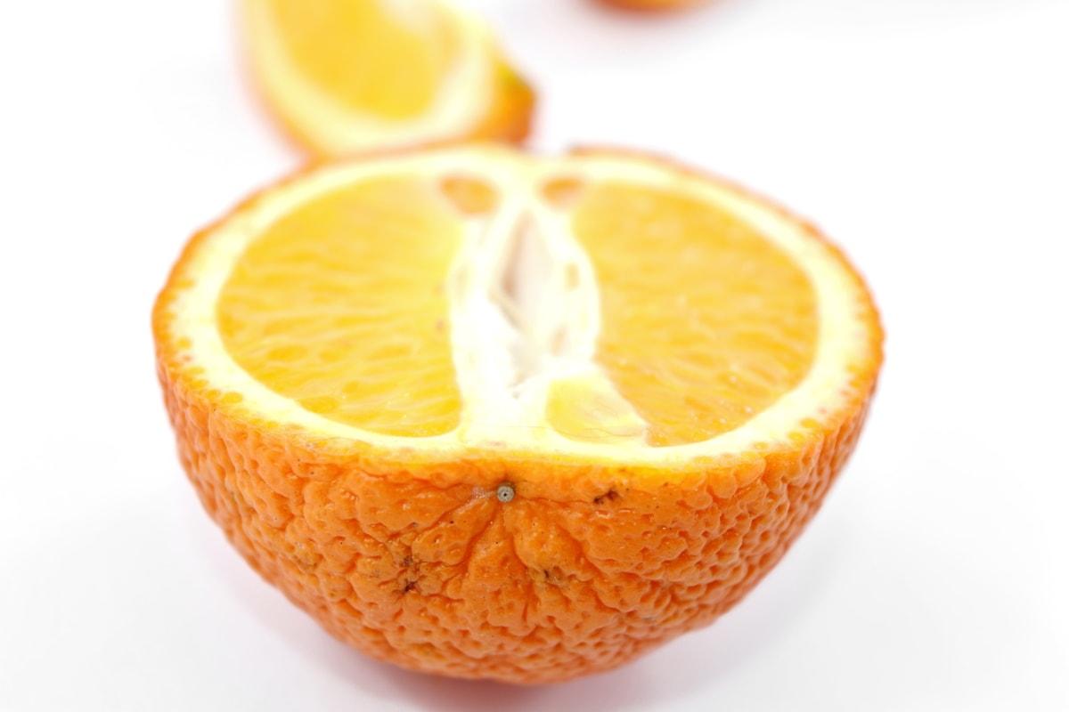 коло, поперечний переріз, Подробиці, свіжі, половина, мандарин, скибочки, здоровий, солодкий, вітамін