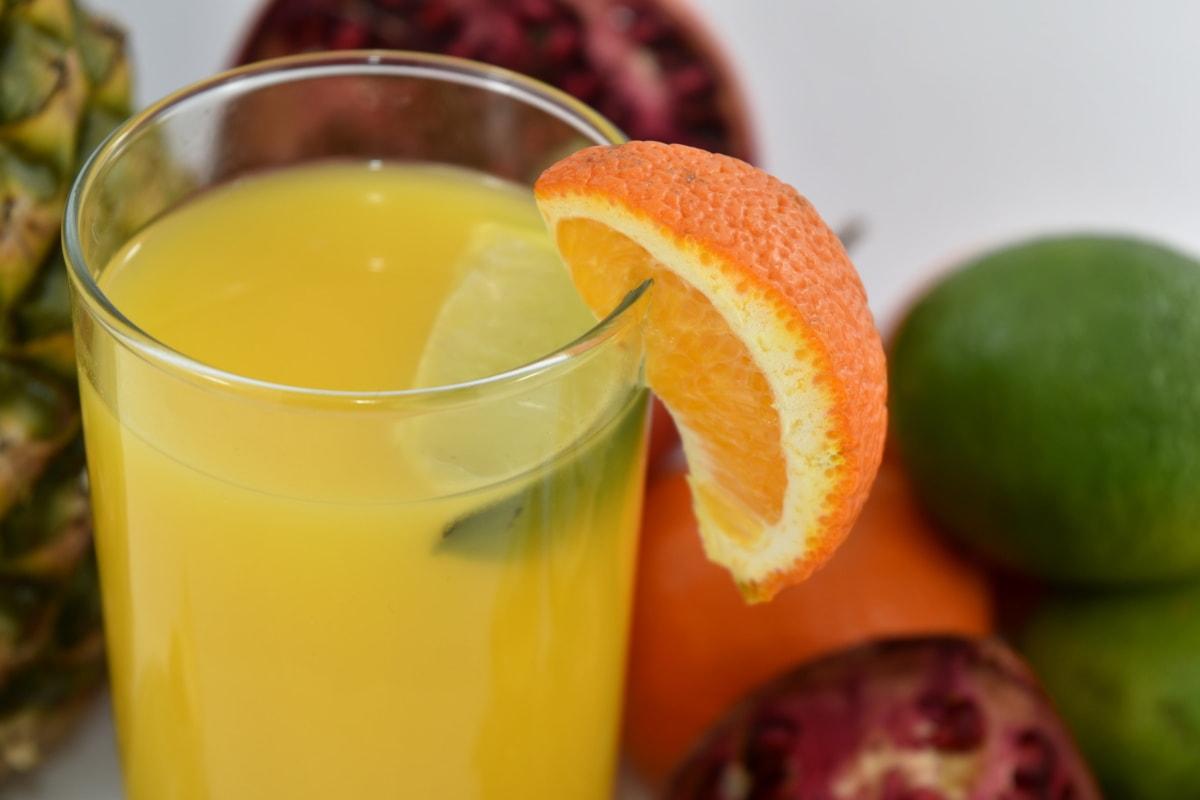 citrus, fresh, fruit cocktail, juice, drink, tropical, fruit, beverage, glass, health