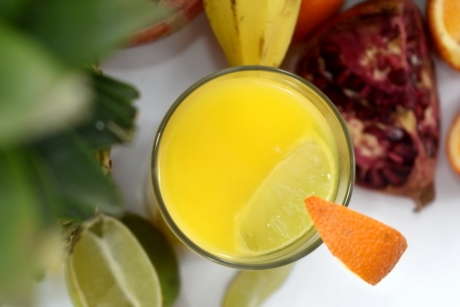 banana, beverage, fruit cocktail, fruit juice, key lime, lemonade, orange, pomegranate, diet, food