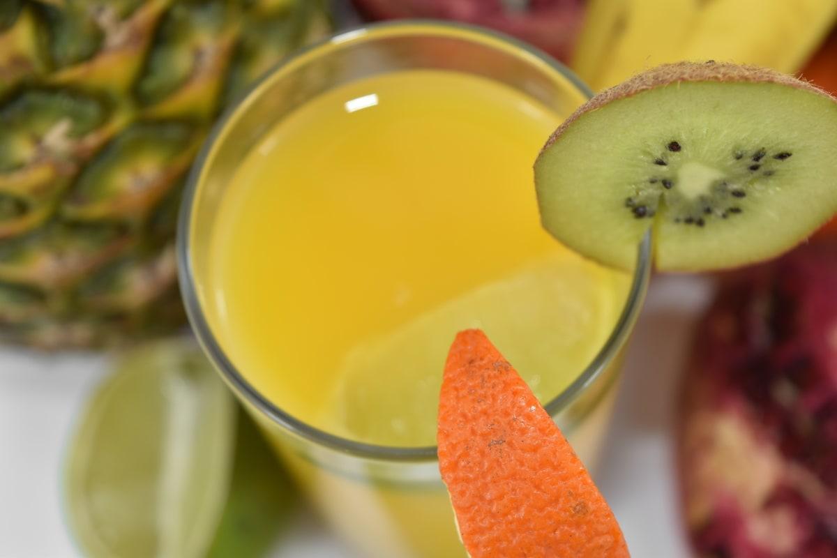 cocktail, key lime, kiwi, mandarin, pineapple, pomegranate, tropical, food, juice, fruit