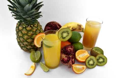banana, bitter, citrus, fruit, fruit cocktail, key lime, liquid, oranges, pineapple, pomegranate