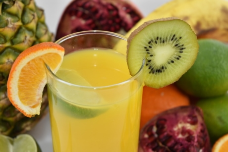 aromatic, beverage, cold water, drink, exotic, fresh water, fruit cocktail, kiwi, tropical, fruit