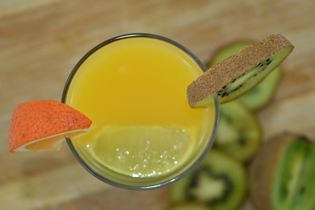 антиоксидантна, апетит, Закуска, аромат, гіркий, Фруктовий коктейль, домашнє, ківі, лимонад, напій