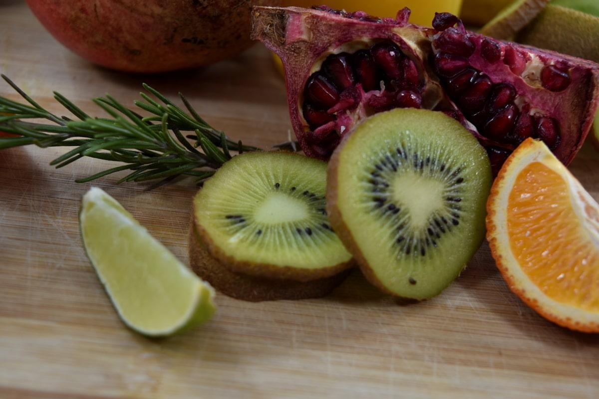 arôme, amer, agrumes, pamplemousse, lime clés, Kiwi, Grenade, tranches de, pimenter, vitamines