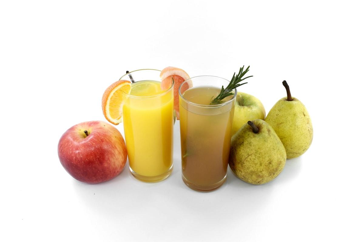 antibakteriálne, antioxidant, jablká, citrus, ovocné šťavy, hrušky, korenie, sirup, čerstvé, sladký