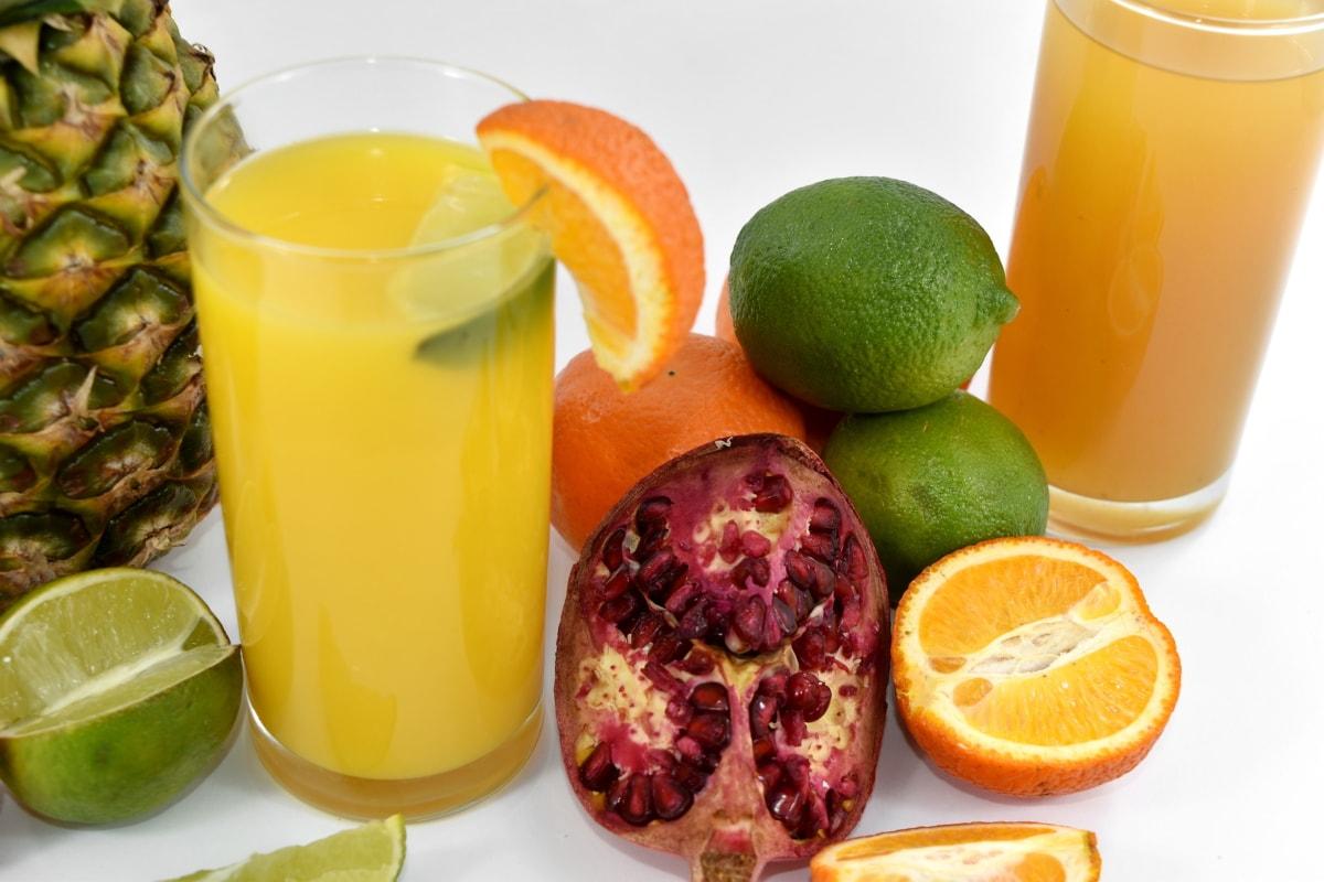 aromatic, cold, cold water, fresh water, key lime, lemon, lemonade, pineapple, pomegranate, ripe fruit