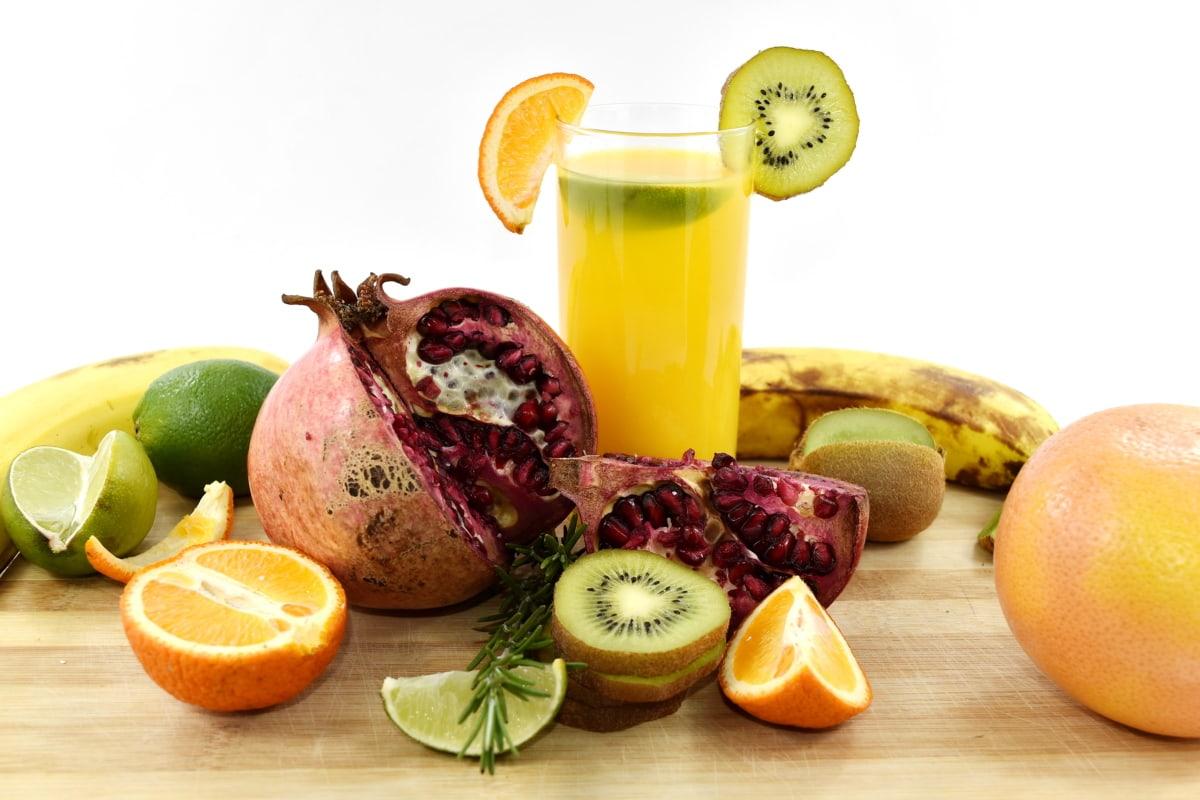 antioxidant, aroma, banana, beverage, bitter, citrus, cold water, fresh water, grapefruit, kiwi