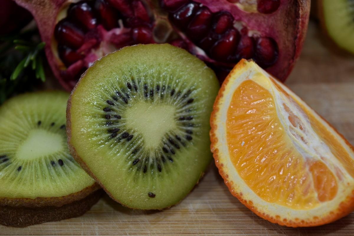 аромат, гіркий, свіжі, ківі, їжі, гранат, стиглі плоди, Насіння, мандарина, строгий вегетаріанець
