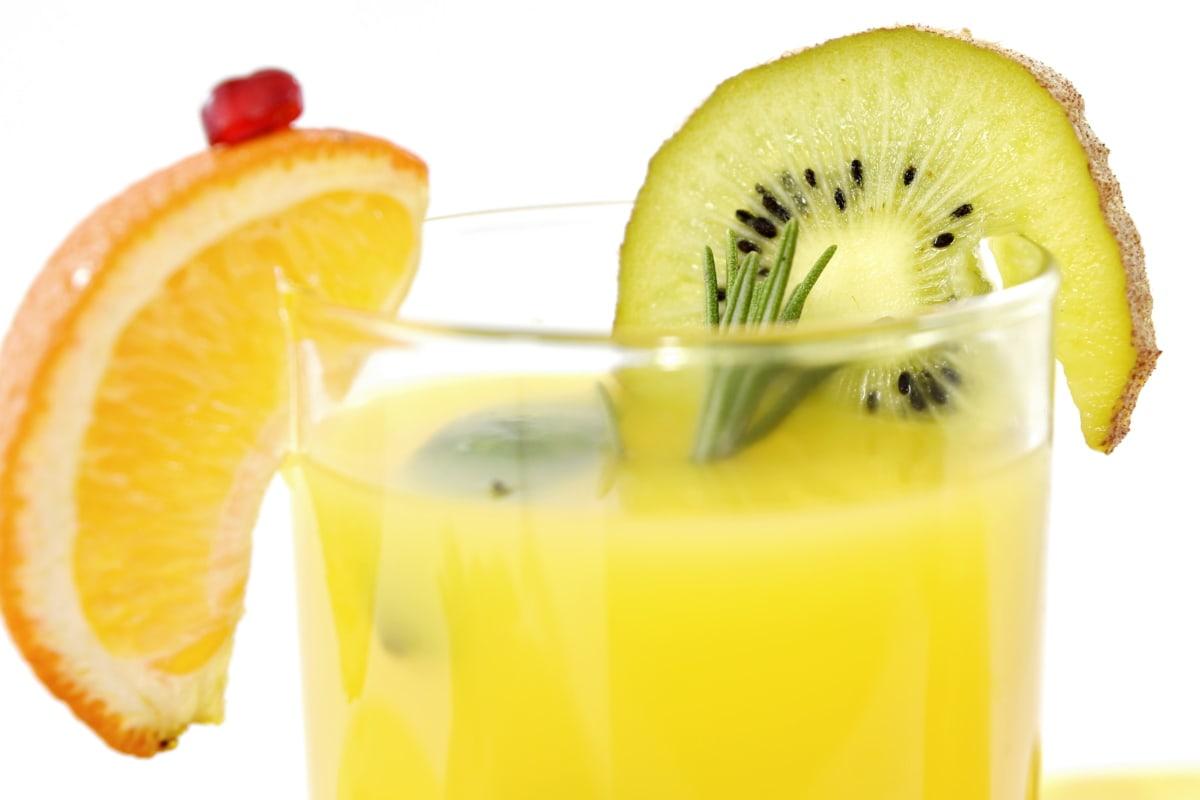 beverage, bright, cold water, fruit cocktail, full, kernel, kiwi, lemonade, spice, tropical