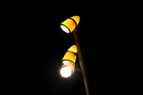 electricity, illumination, light, light bulb, nighttime, reflection, reflector, street, spotlight, lamp