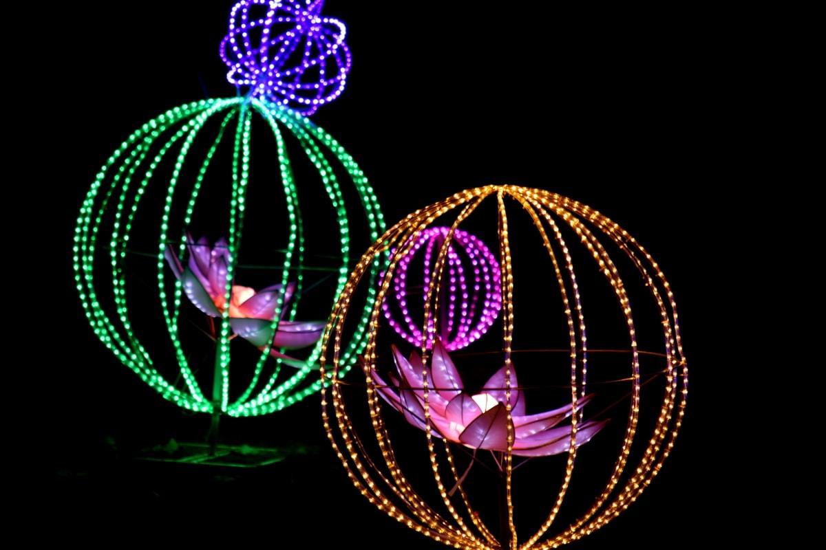 sáng tạo, điện, thanh lịch, Hoa, chiếu sáng, đèn, ngoạn mục, kính màu, dây điện, thiết kế