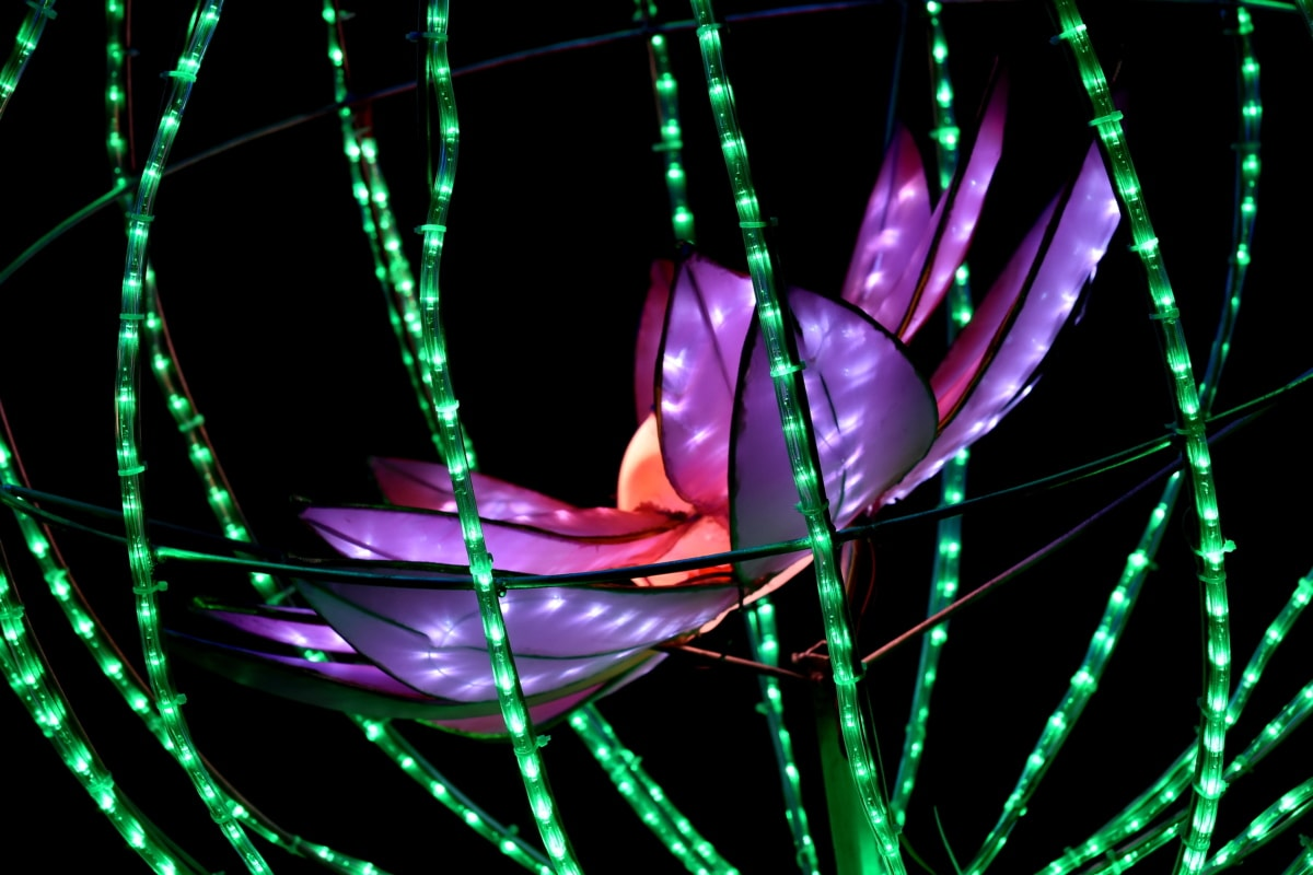 artwork, electricity, fantasy, handmade, lamp, lily pad, modern, purple, light, art