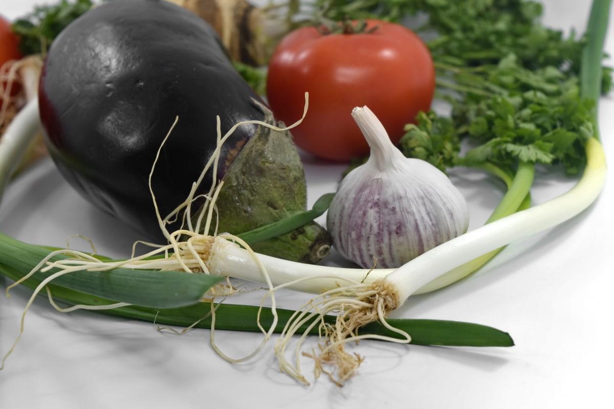 celery, culinary, eggplant, garlic, leek, vegan, vegetables, food, fresh, onion