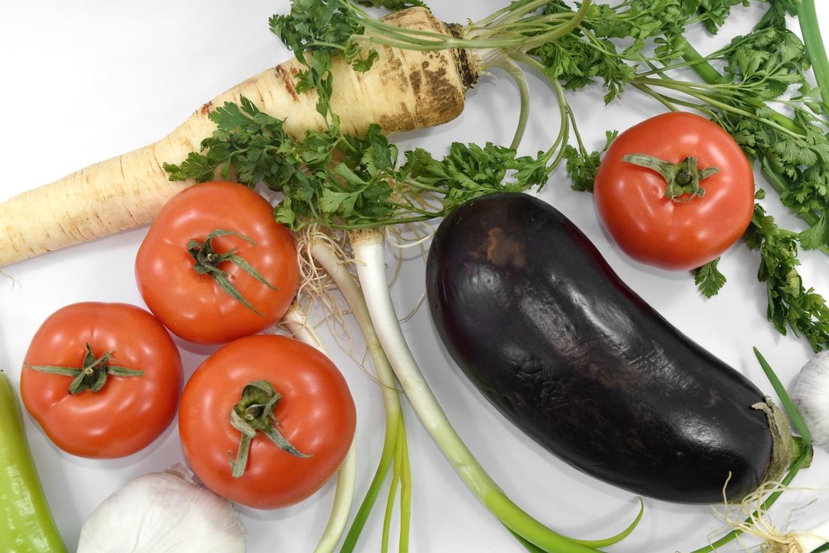aroma, aubergine, hvidløg, persille, salat, krydderi, tomater, vild løg, plante, tomat