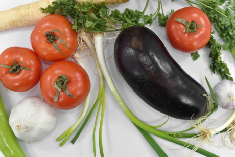eggplant, garlic, organic, products, spice, tasty, tomatoes, vegetables, vegetable, health