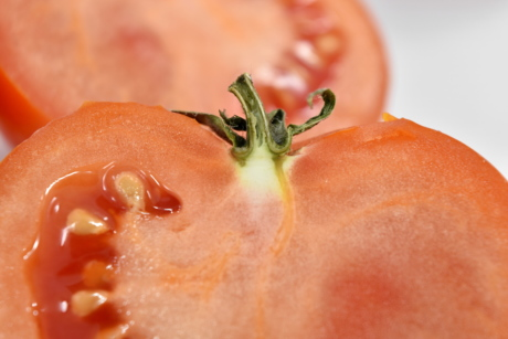 close-up, cross section, seed, tomato, fresh, food, health, delicious, nutrition, slice