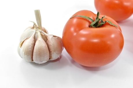 antioxidant, carbohydrate, close-up, details, garlic, organic, tomato, vegetarian, food, vegetable
