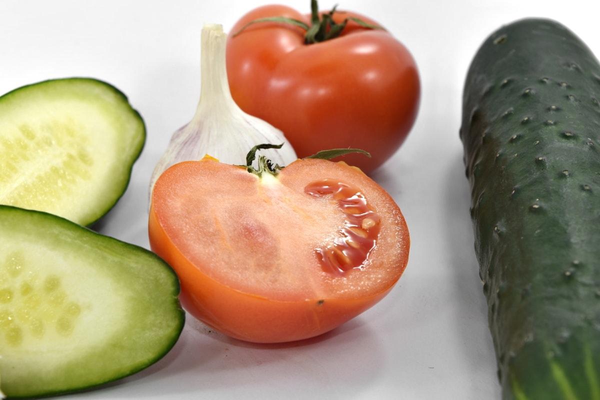 poprečni presjek, krastavac, sjeme, tkivo, rajčice, mokro, dijeta, hrana, rajčica, povrće