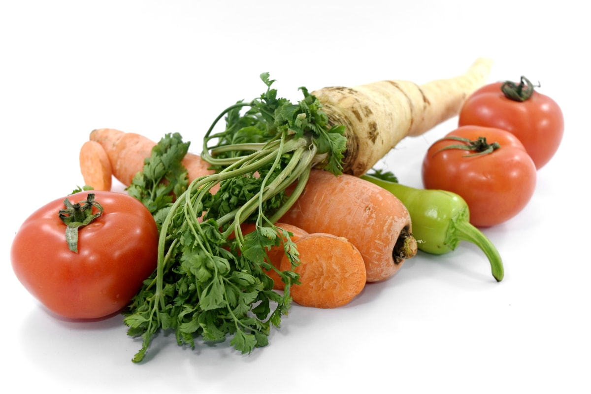 aromatic, carrot, chili, fresh, parsley, spice, tomatoes, vegetables, vegetable, diet
