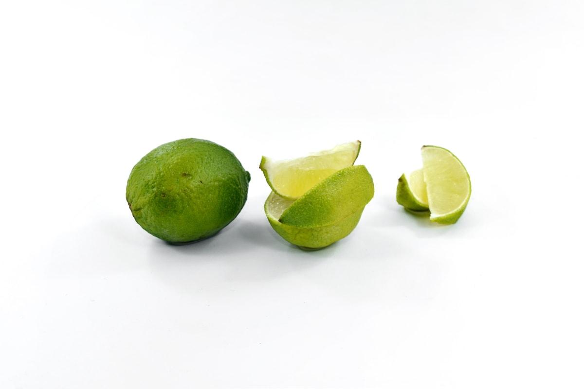 深绿色, 新鲜, 黄绿色, 一半, 密钥石灰, 成熟的果子, 片, 柠檬, 维生素, 健康