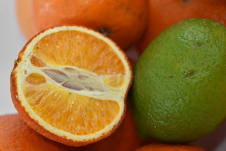 citrus, half, key lime, mandarin, slice, lemon, fresh, diet, vitamin, orange