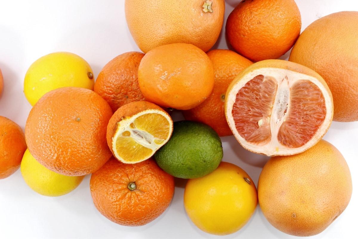 напречно сечение, грейпфрут, ключови вар, мандарин, портокали, цяло, витамин, здрави, цитрусови плодове, ориндж