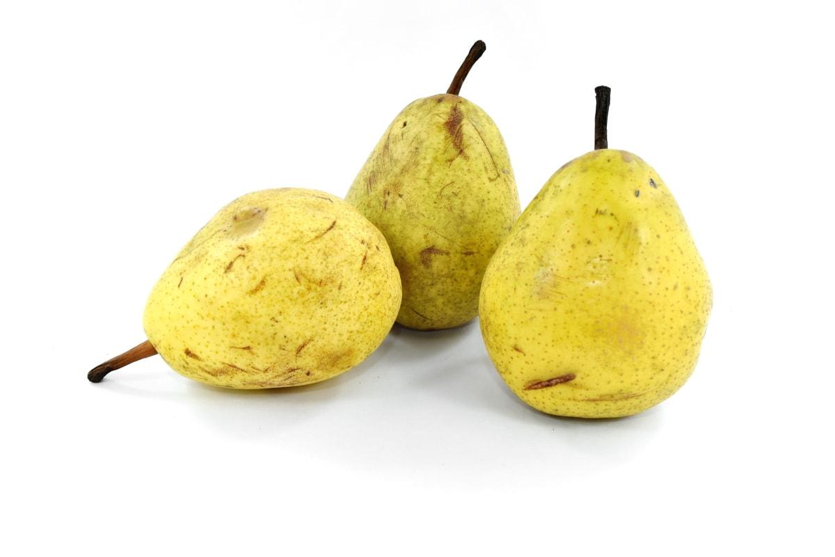 pear, sweet, vegetarian, yellow, fruit, food, nutrition, health, whole, vitamin