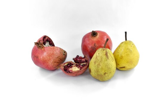 antioxidant, delicious, fresh, pears, pomegranate, seed, slice, food, diet, vitamin