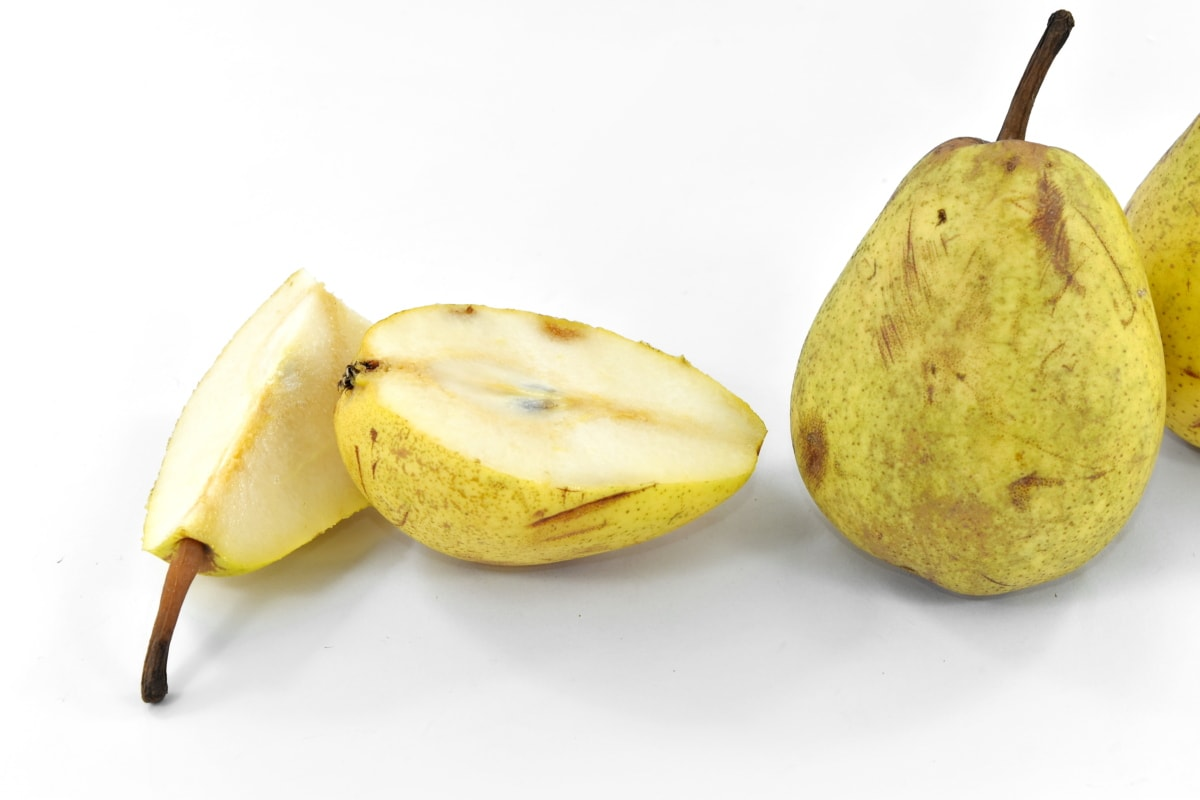 antioxidant, half, organic, pears, yellowish brown, fruit, food, nutrition, pear, delicious