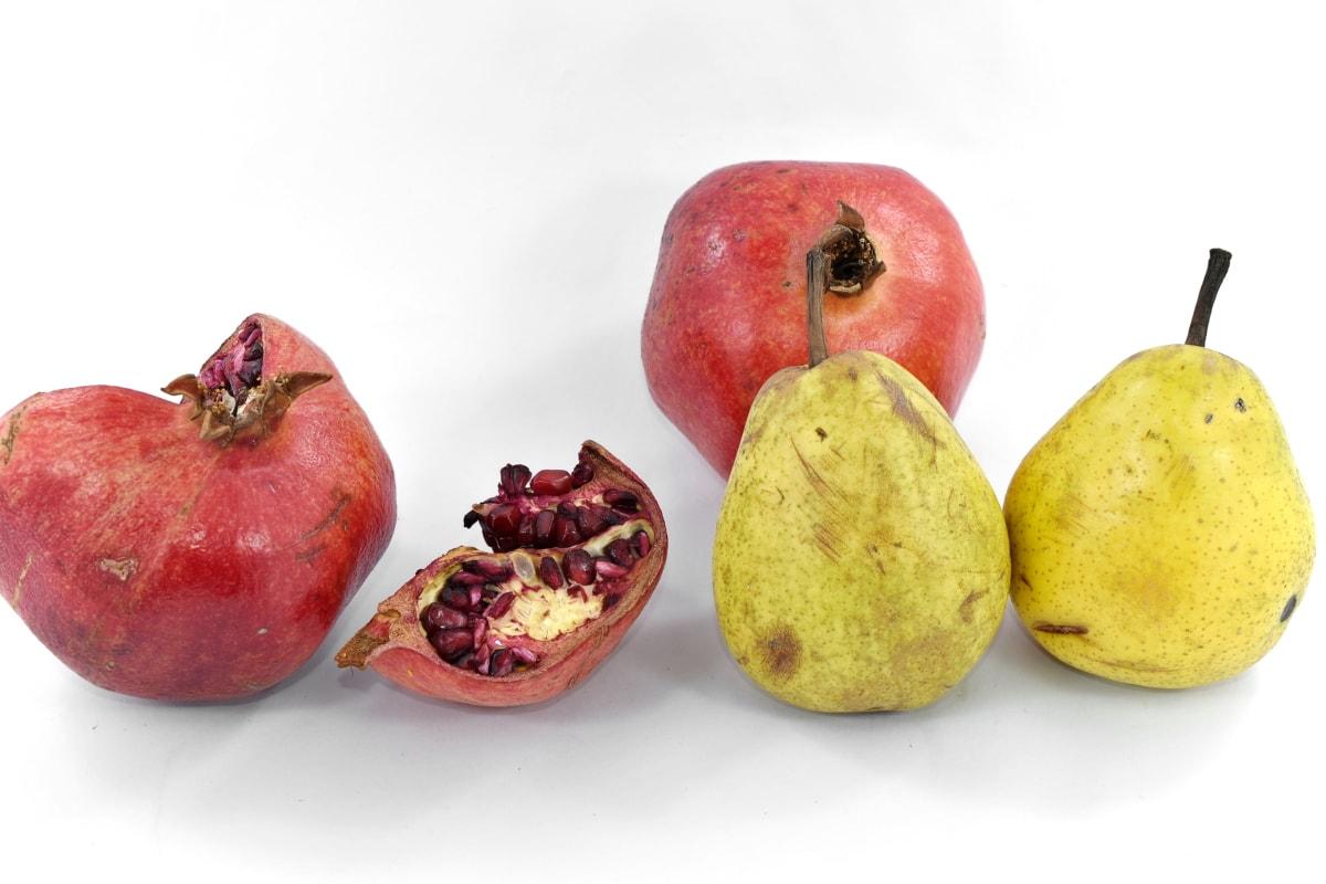 antioksidans, minerali, organsko, kruške, zrelo voće, nar, slatko, prehrana, svježe, voće