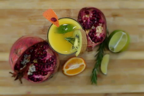 aromatic, beverage, drink, fresh, fruit cocktail, key lime, kiwi, lemonade, mandarin, pomegranate