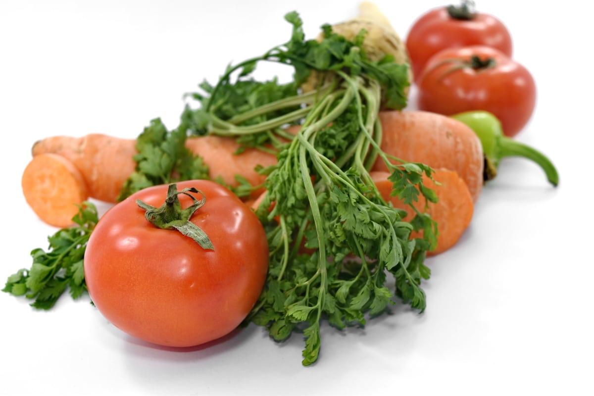 ニンジン, セロリ, 新鮮です, 有機, トマト, 野菜, パセリ, 食品, サラダ, ダイエット