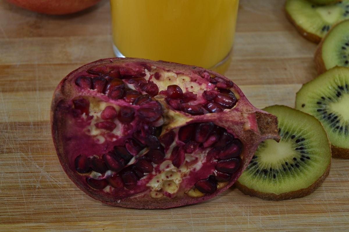 antiossidante, acido ascorbico, bevande, succo di frutta, Kiwi, Melograno, C vitamina, produrre, frutta, cibo