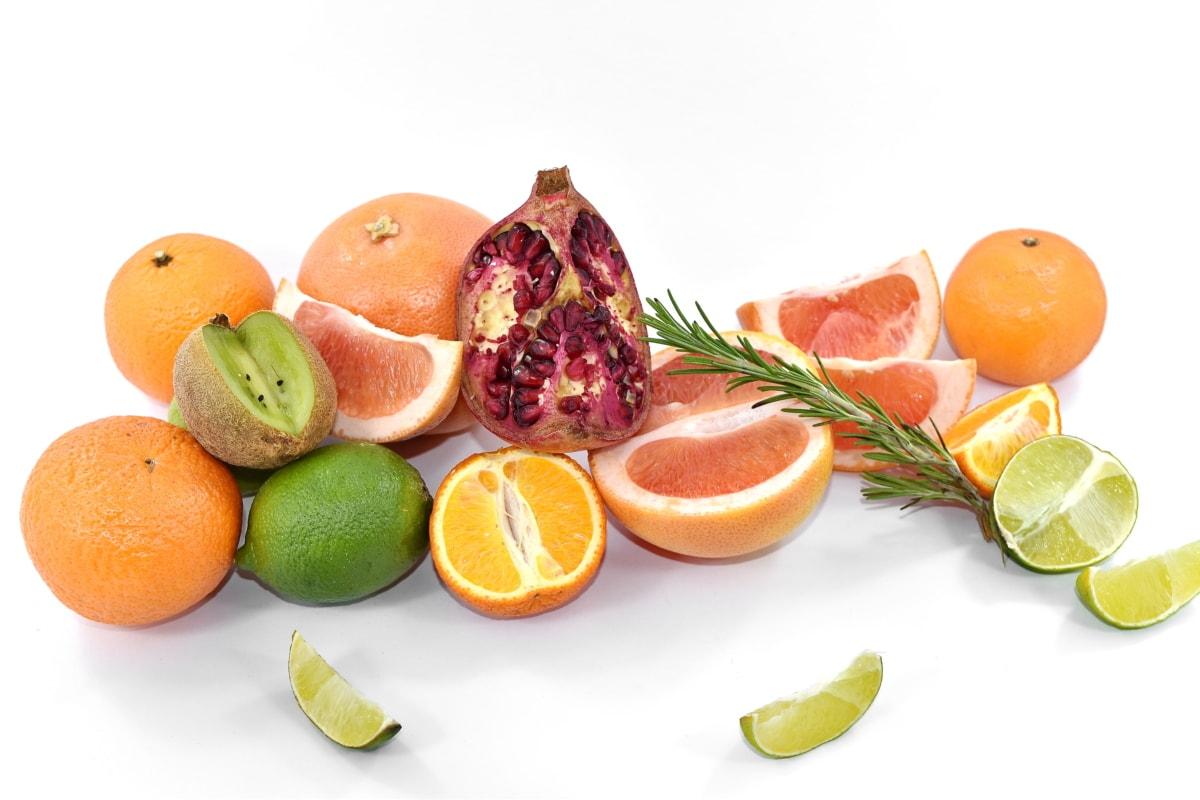 ascorbic acid, citrus, fruit, key lime, kiwi, lemon, oranges, pomegranate, vitamin C, vitamins