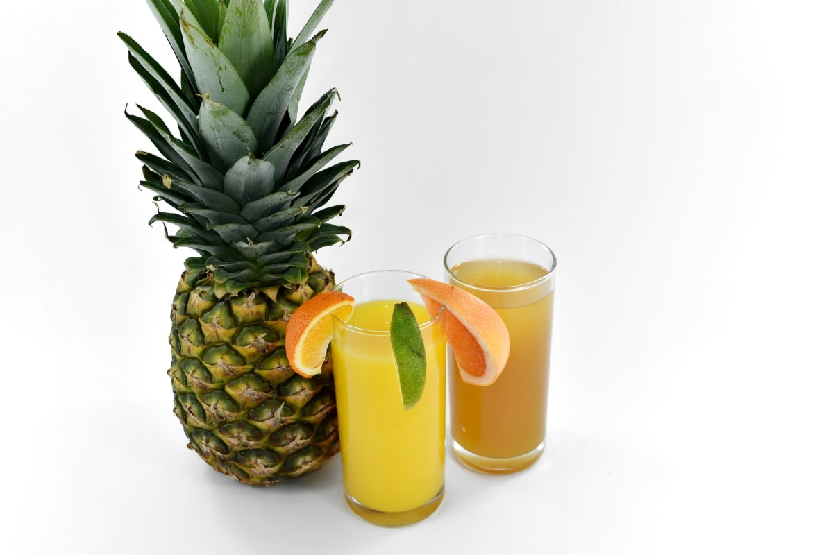 ácido ascórbico, suco de fruta, abacaxi, fruta madura, xarope, vitamina C, frutas, comida, suco de, tropical